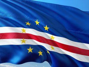 Die Landesflagge von Kap Verde.