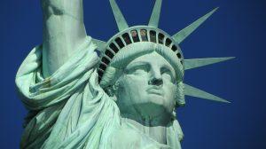 Die Freiheitsstatue in New York.