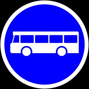 Die Busspur ist in erster Linie dem Linienverkehr zur Nutzung erlaubt, mit Zusatzschildern auch Taxen und Krankenfahrzeugen.