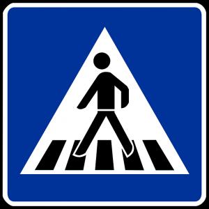 Dieses Verkehrszeichen kennzeichnet Zebrastreifen.