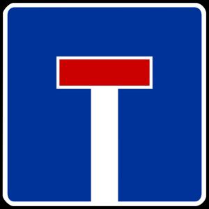 Sackgassen erkennt man am Verkehrszeichen mit der Nummer 357.