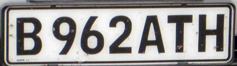 Autokennzeichen Bw